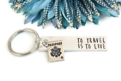 15+ Of The Best Traveler Gift Ideas Besides Actual Plane Tickets - To Travel Is To Live Keychain